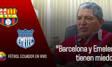 Declaraciones de Luis Chango Barcelona y Emelec tienen miedo..!