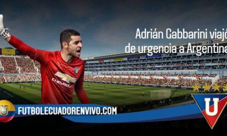 Adrián Gabbarini arquero de LDU viajó de URGENCIA a Argentina