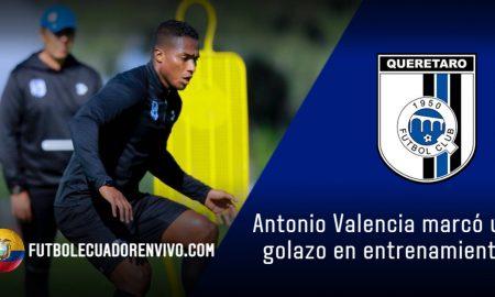 Antonio Valencia afina la puntería en los entrenamientos con Querétaro