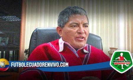 Luis Chango, molesto con Miguel Ángel Loor presidente de Liga Pro