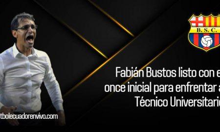 Fabián Bustos tendría listo el once inicial en Barcelona SC