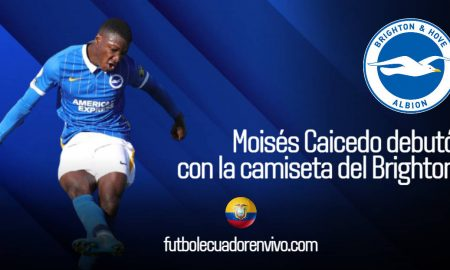 Moisés Caicedo debutó con la camiseta del Brighton