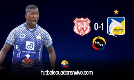 Victoria de Delfín con Golazo de John Cifuente ante Técnico Universitario por la primera fecha de la Liga Pro