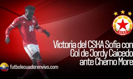 Victoria del CSKA Sofia con Gol de Jordy Caicedo ante Cherno More