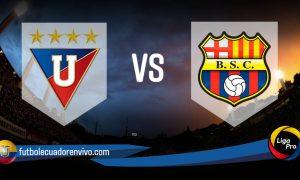 Barcelona - Liga de Quito EN VIVO GOLTV por LigaPro 2021