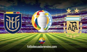 VER Ecuador vs Argentina EN VIVO canales TV Copa América